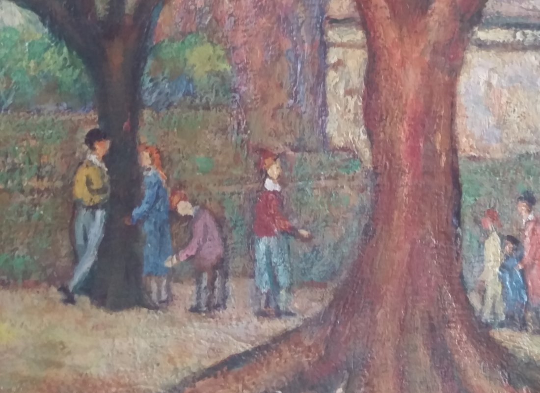 Isaac LISIE Signed Painting 1970  Ecole de Paris French - 2