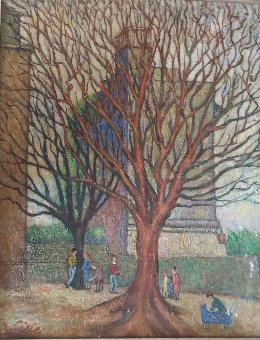 Isaac LISIE Signed Painting 1970  Ecole de Paris French - 3