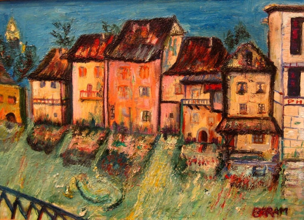 Sioma Baram Signed Painting Kishinev Ecole de Paris