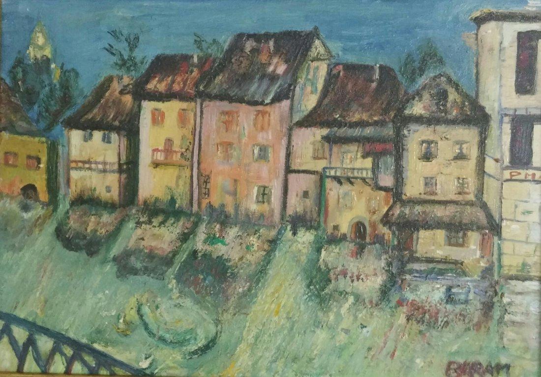Sioma Baram Signed Painting Kishinev Ecole de Paris - 2