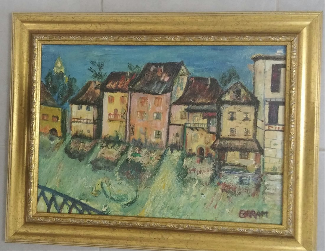 Sioma Baram Signed Painting Kishinev Ecole de Paris - 3