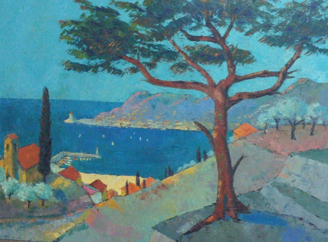 Alexandre BERLANT Large Signed Painting French Ecole de