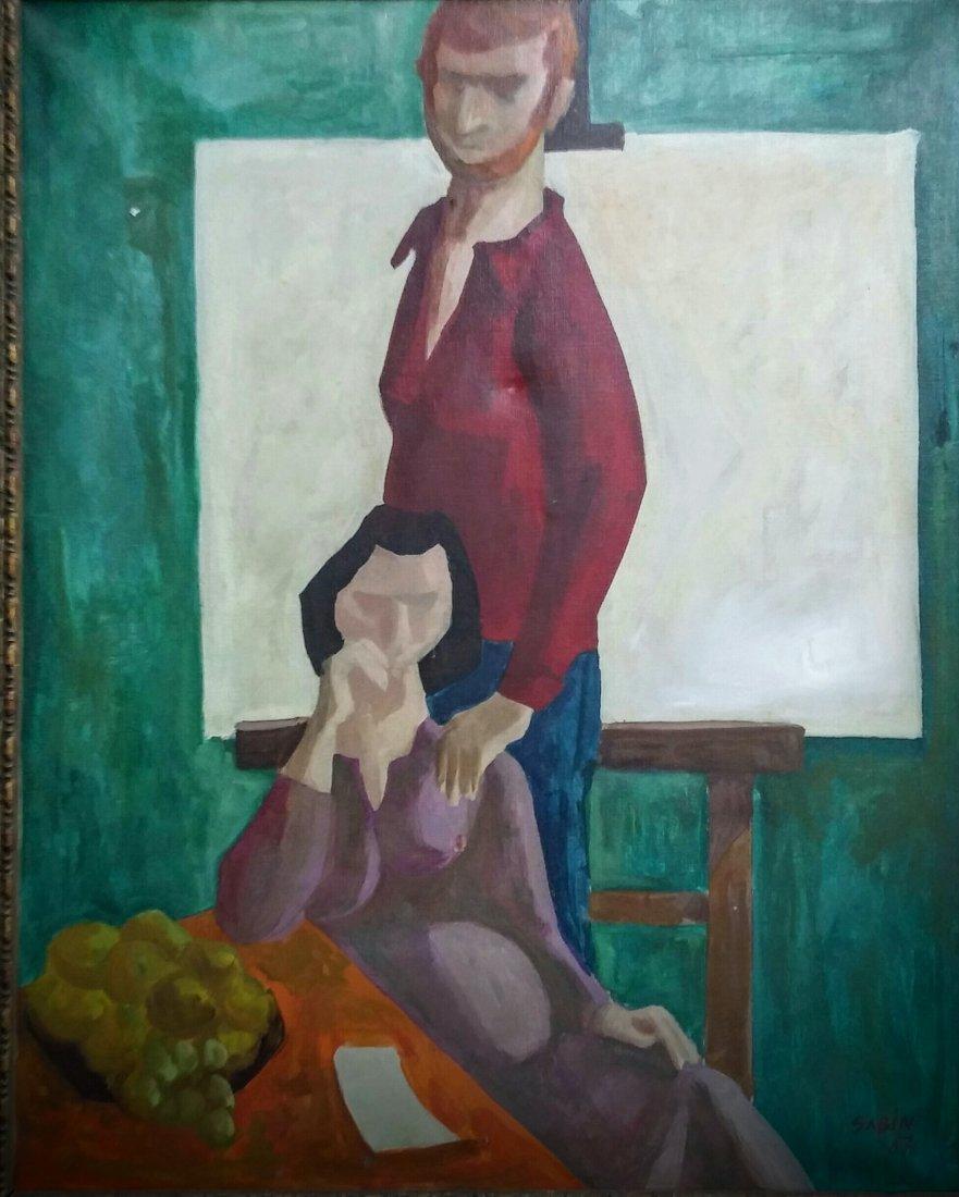 SAMI BIDJERANO SABIN  Signed Painting 1967 Bulgarian
