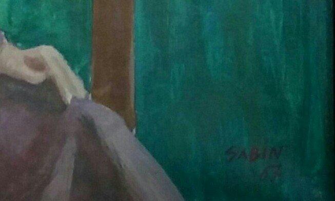 SAMI BIDJERANO SABIN  Signed Painting 1967 Bulgarian - 2