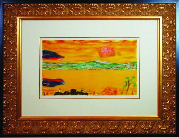 9: Sunset on the Mediterranean (Lithograph)