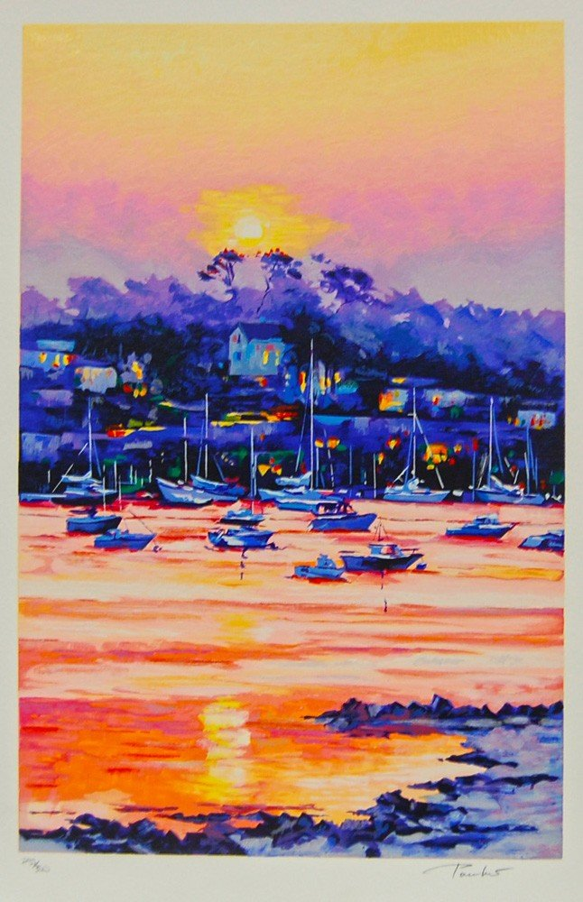 13: ARTIST: Alex Pauker TITLE: Harbor at Sunset