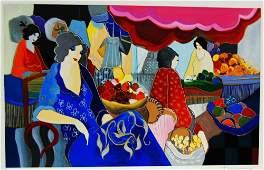 26: ARTIST: Itzchak Tarkay TITLE: Women to Market II