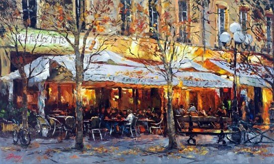 ARTIST: Elena Bond TITLE: CafŽ Des Artes