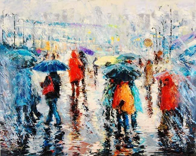 ARTIST: Elena Bond TITLE: Storm on the Plaza
