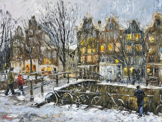 ARTIST: Elena Bond TITLE: Winter in Amsterdam