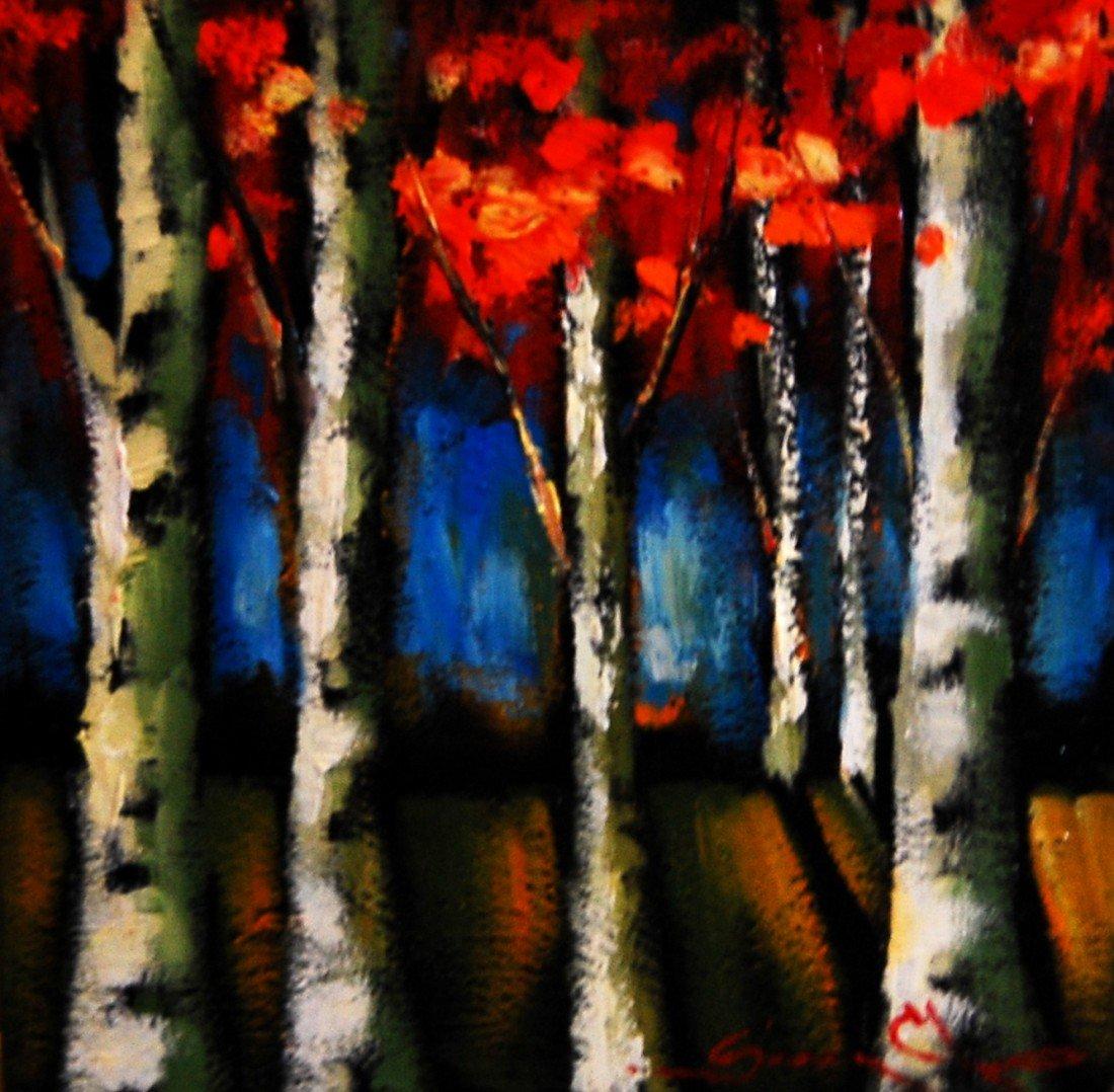 ARTIST: Sergey Cherep TITLE: Birch Trees #2