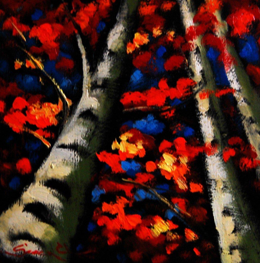 ARTIST: Sergey Cherep TITLE: Birch Trees #3