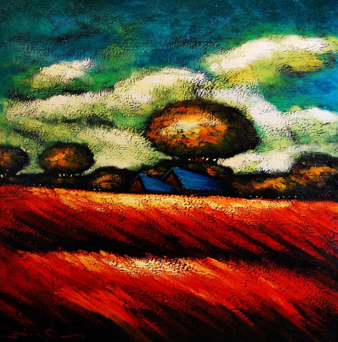ARTIST: Sergey Cherep TITLE: Blue Roofs