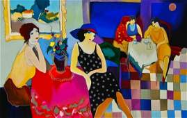 ARTIST: Itzchak Tarkay TITLE: Cafe I