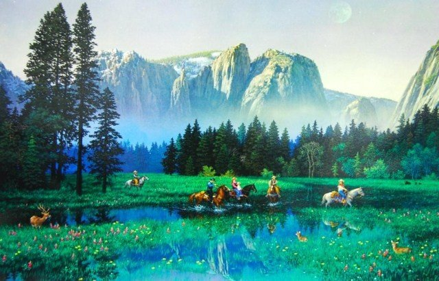 ARTIST: Alexander Chen TITLE: Yosemite Cowboys