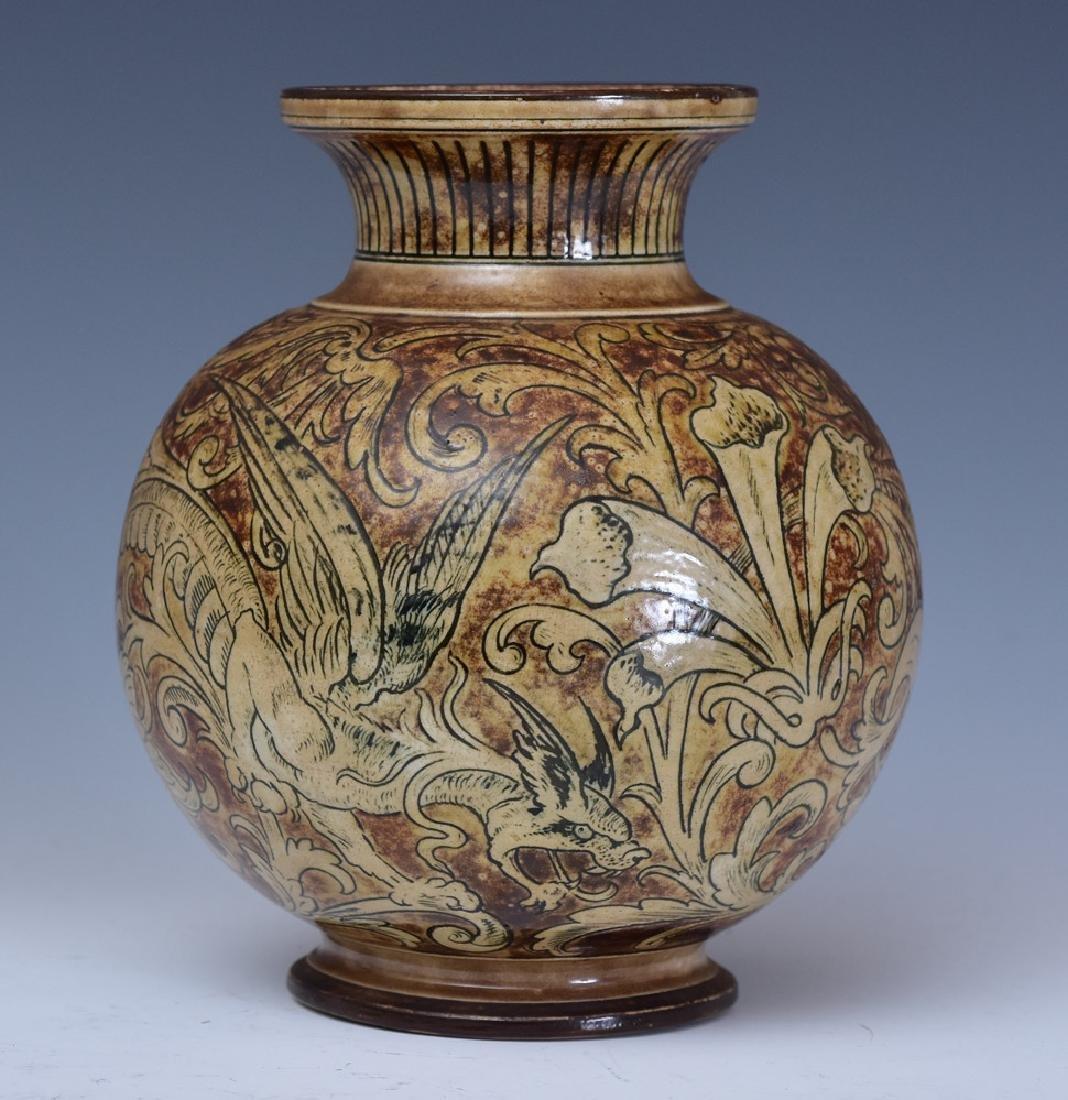 Martin Brothers Glazed Stoneware Vase - 2
