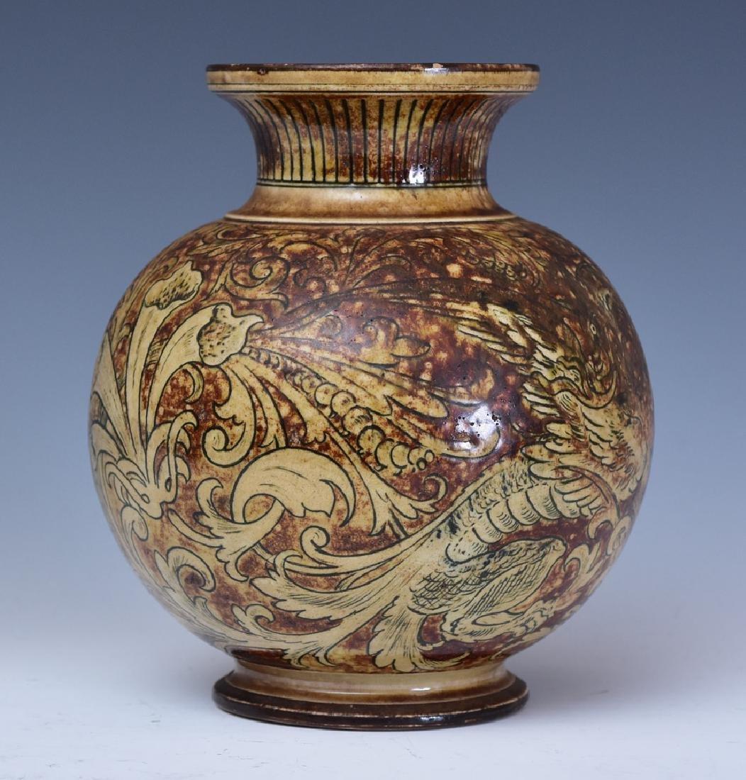 Martin Brothers Glazed Stoneware Vase - 3