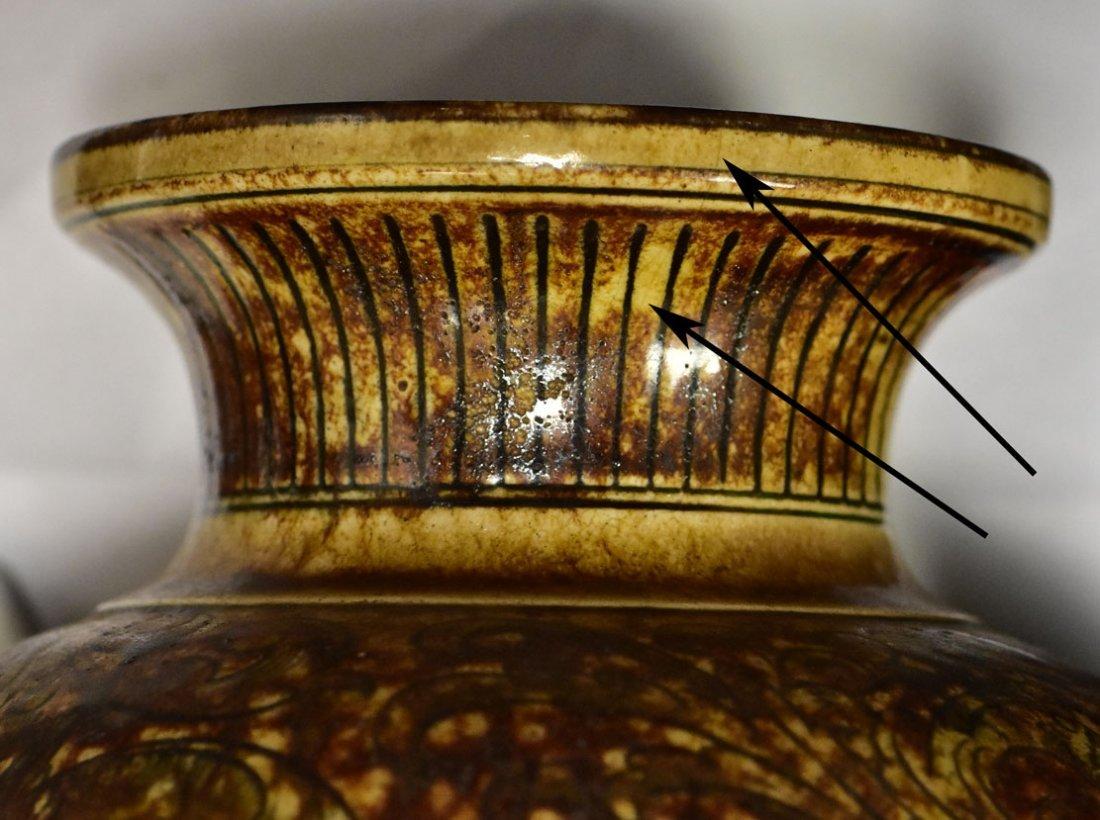 Martin Brothers Glazed Stoneware Vase - 9