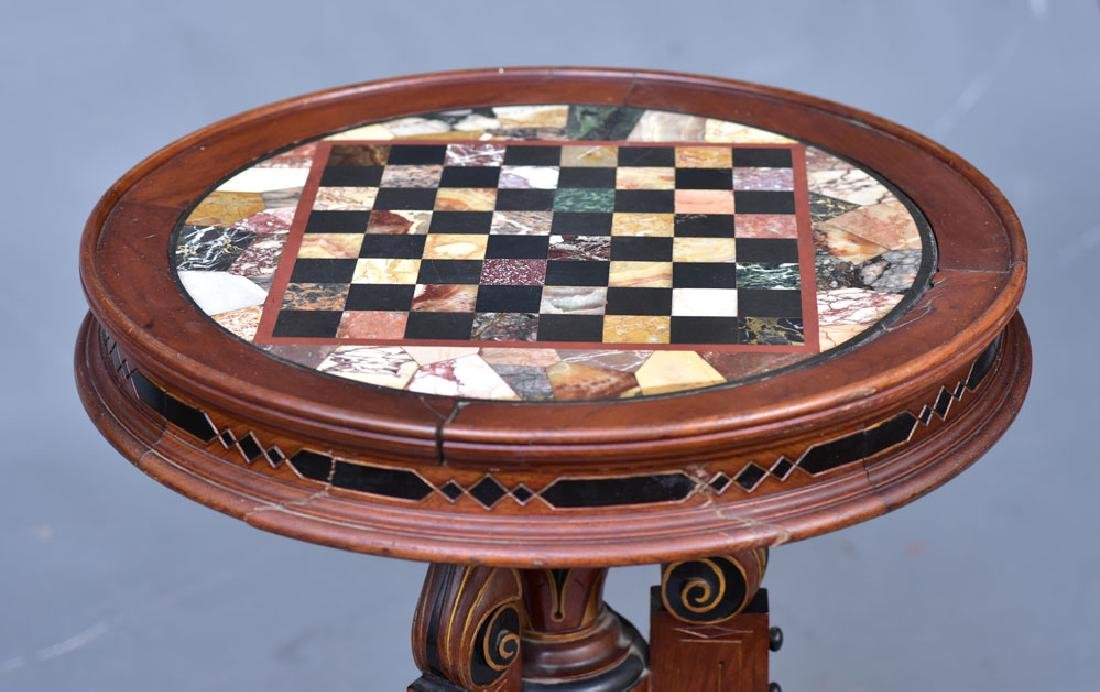 Victorian Specimen Marble Center Table - 2