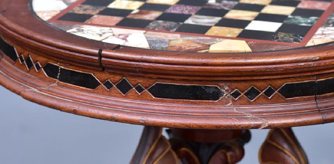 Victorian Specimen Marble Center Table - 4