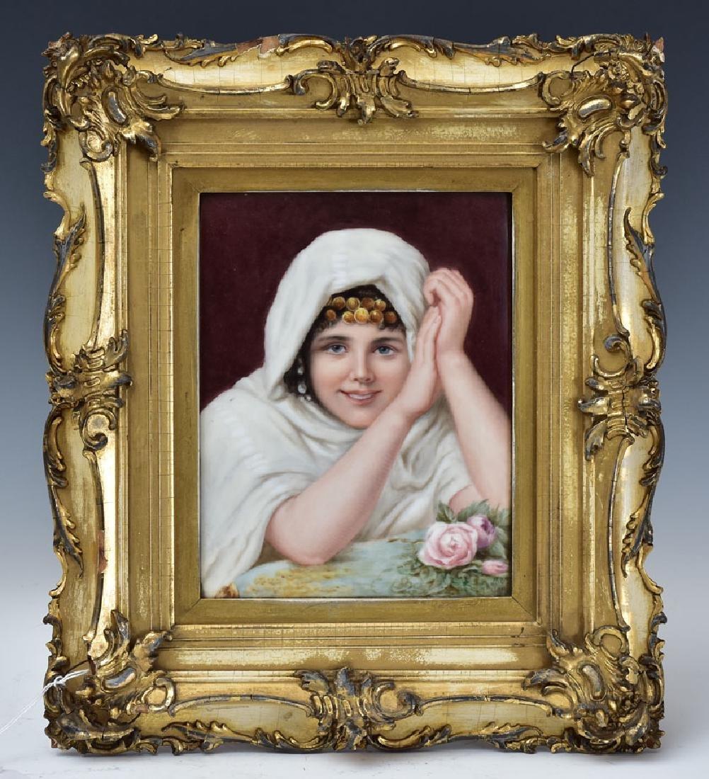 Limoges Porcelain Portrait Plaque