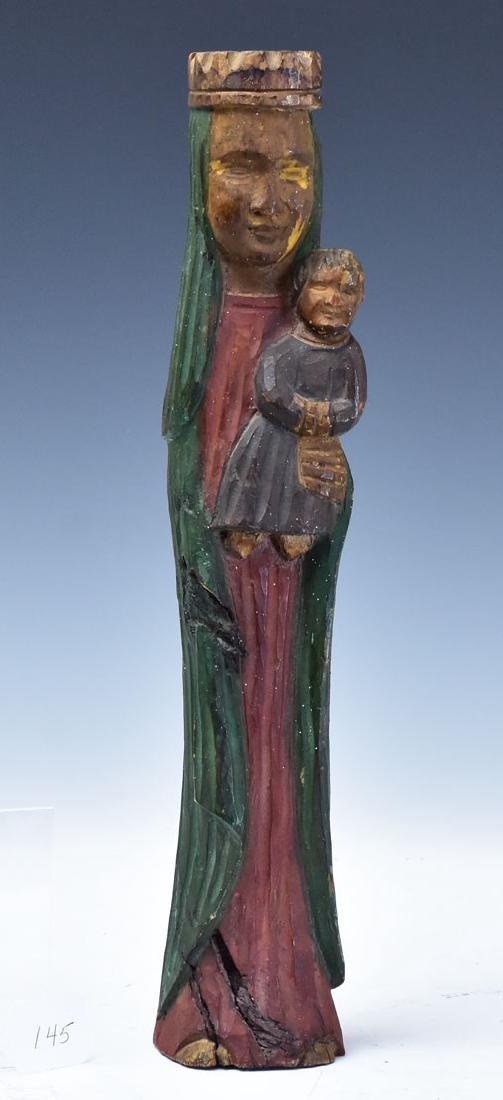 Wooden Polychromed Santos Statue