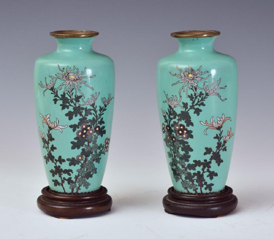 Pair of Japanese Cloisonne Vases