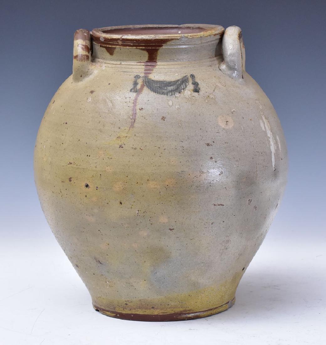 Three Gallon Incised Stoneware Crock - 2
