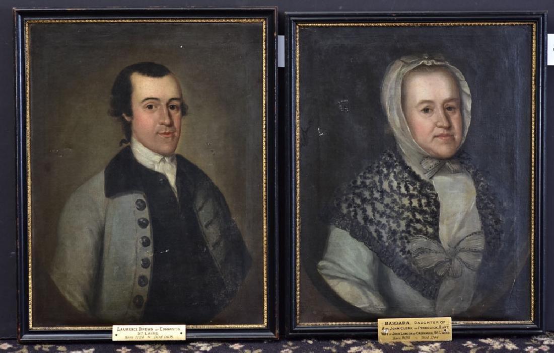 Pair of English School Portraits