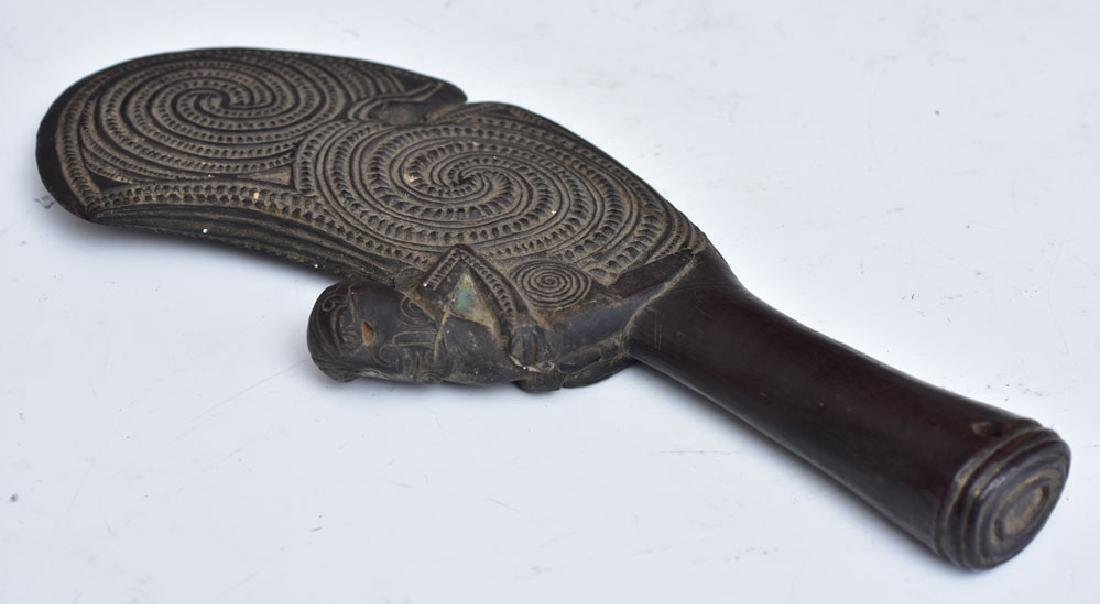 Maori Carved Patu Wahaika - 5