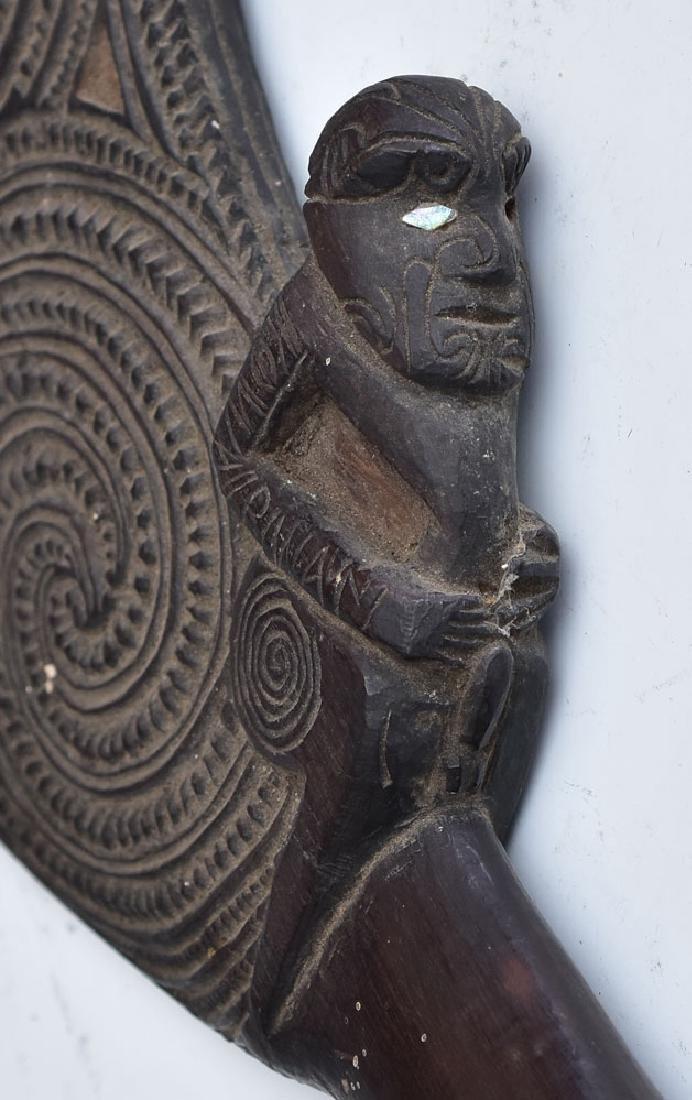 Maori Carved Patu Wahaika - 7