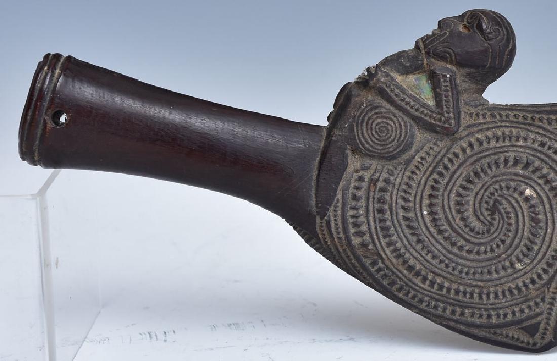 Maori Carved Patu Wahaika - 8