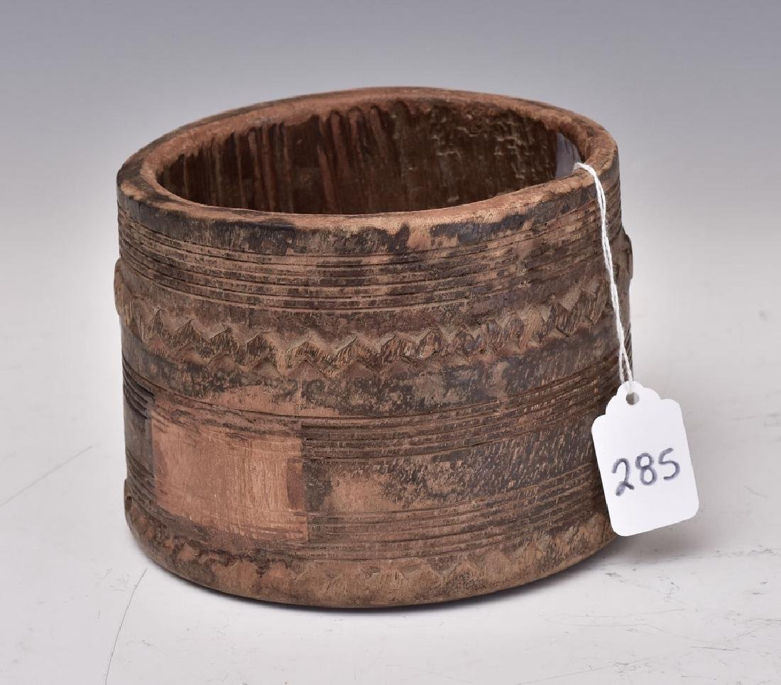 Tribal Carved Wooden Bowl