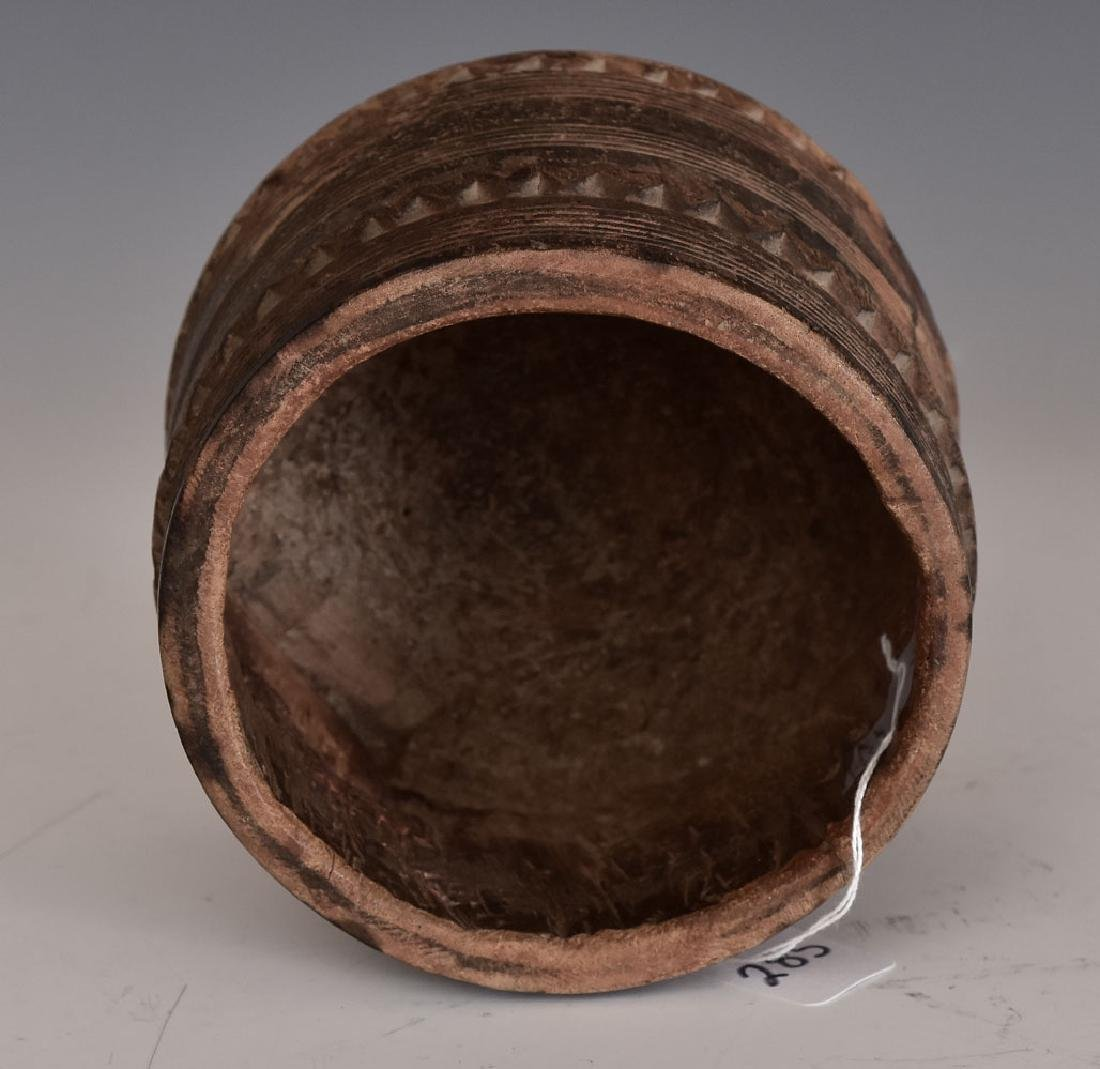 Tribal Carved Wooden Bowl - 2