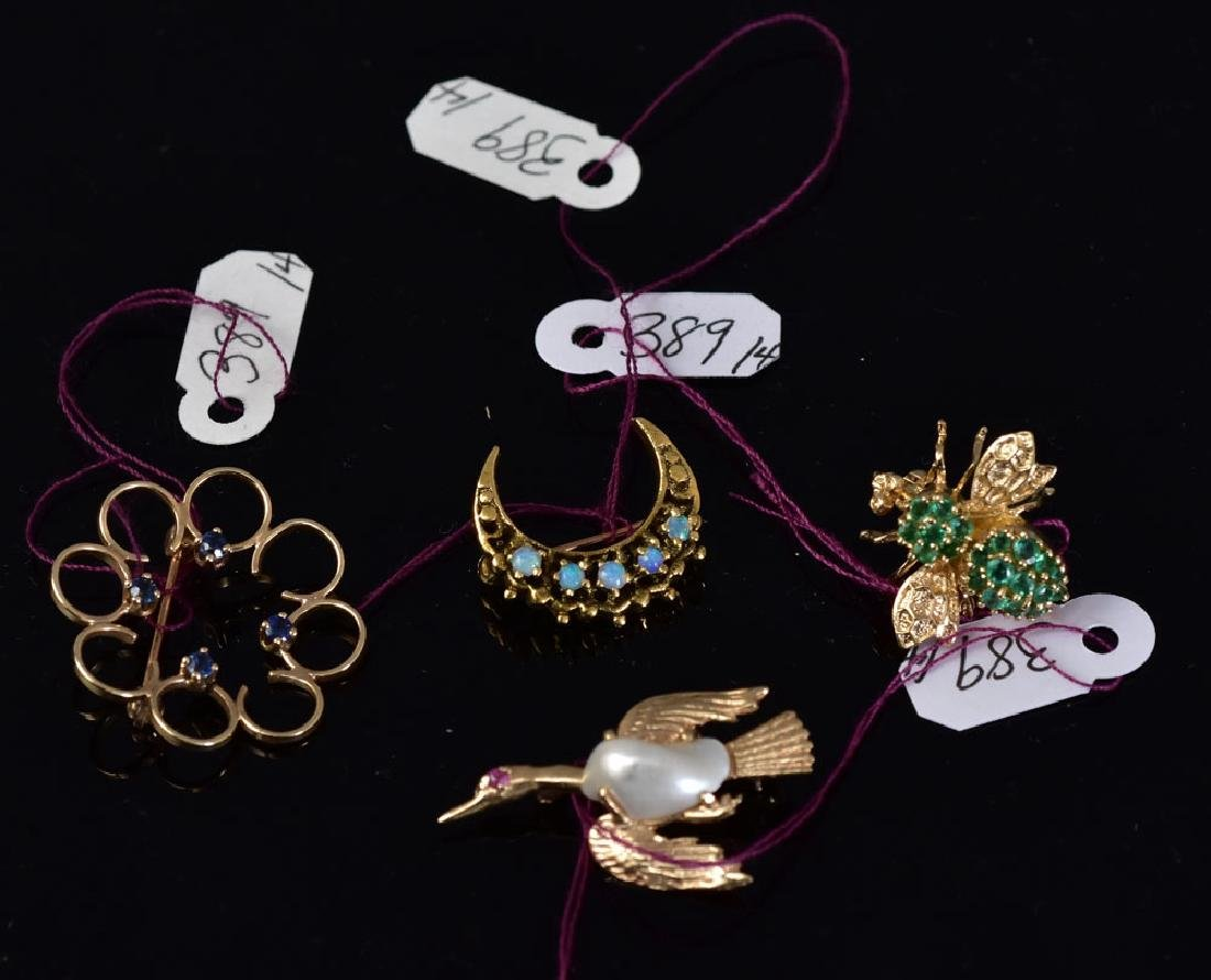 14k Gold Brooches (4)