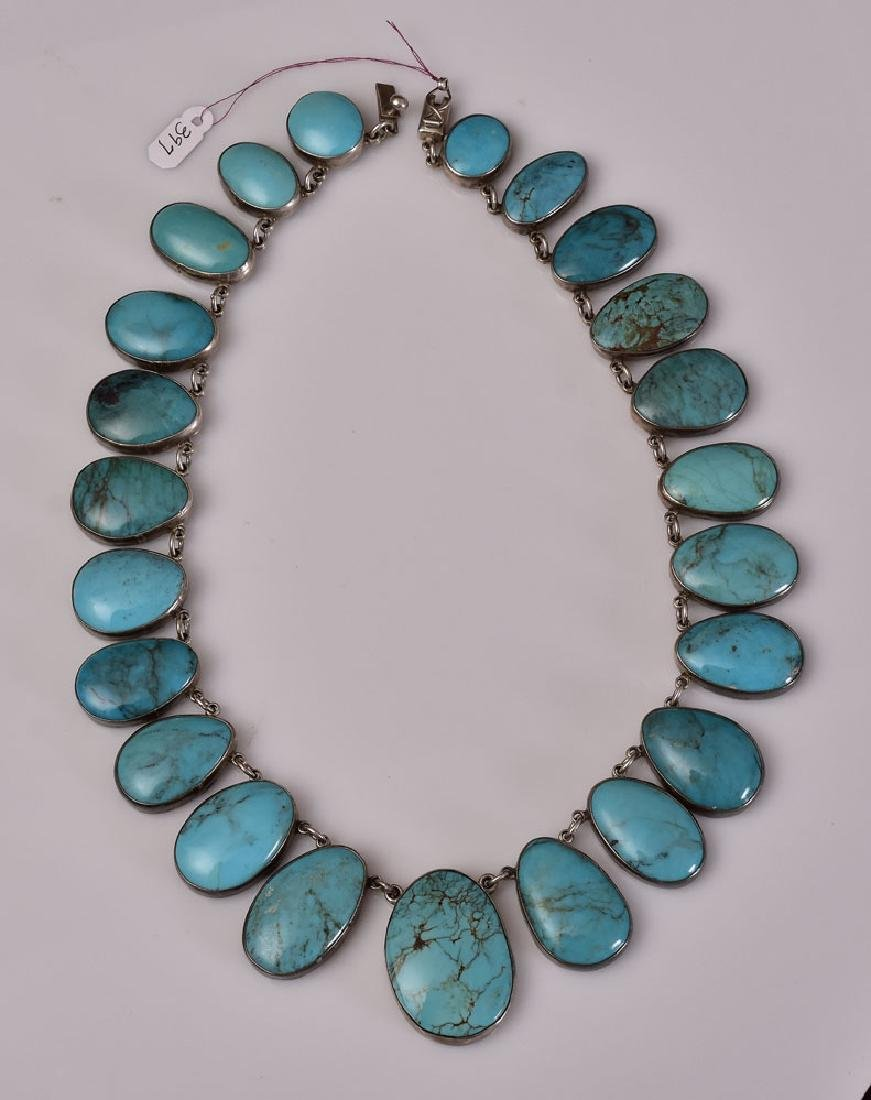 Jose Federico Sterling Silver Turquoise Necklace