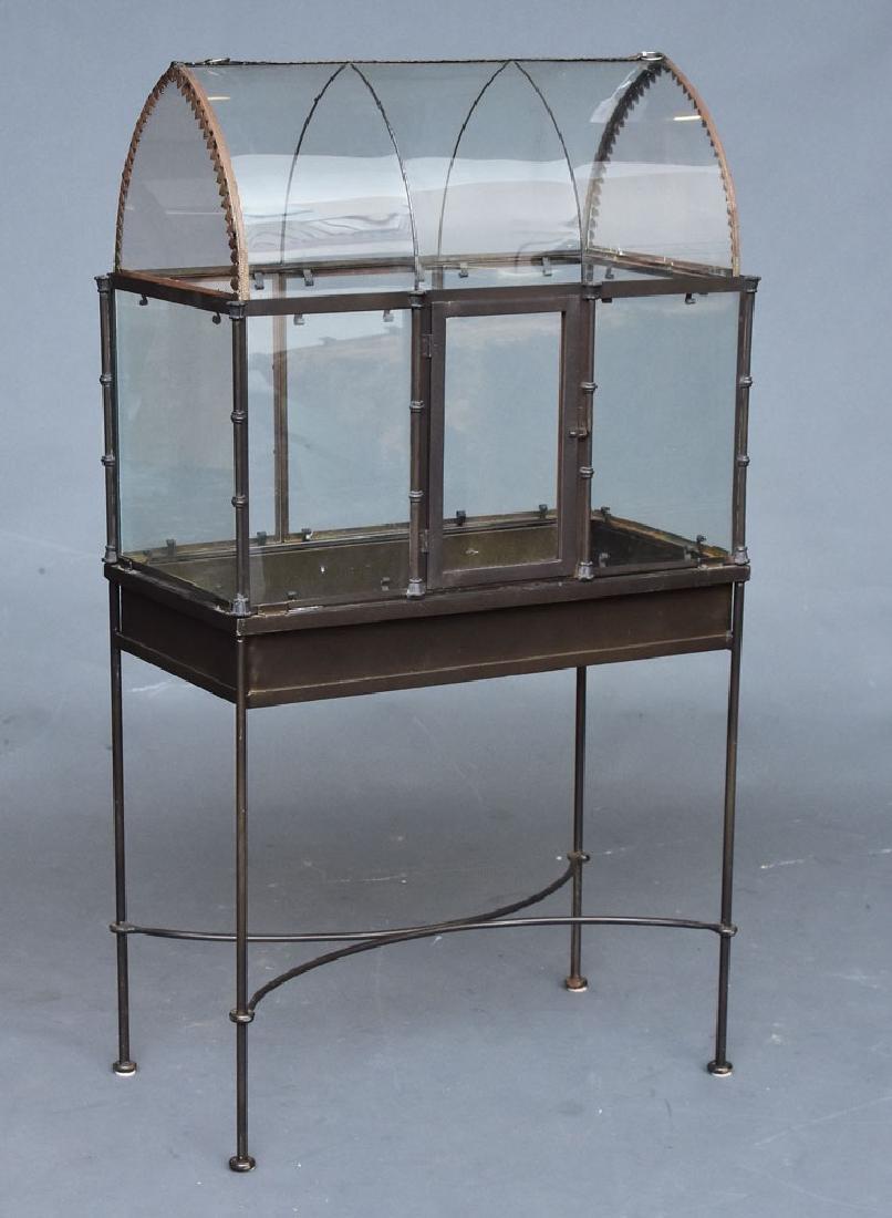 Iron and Glass and Plexiglass Terrarium