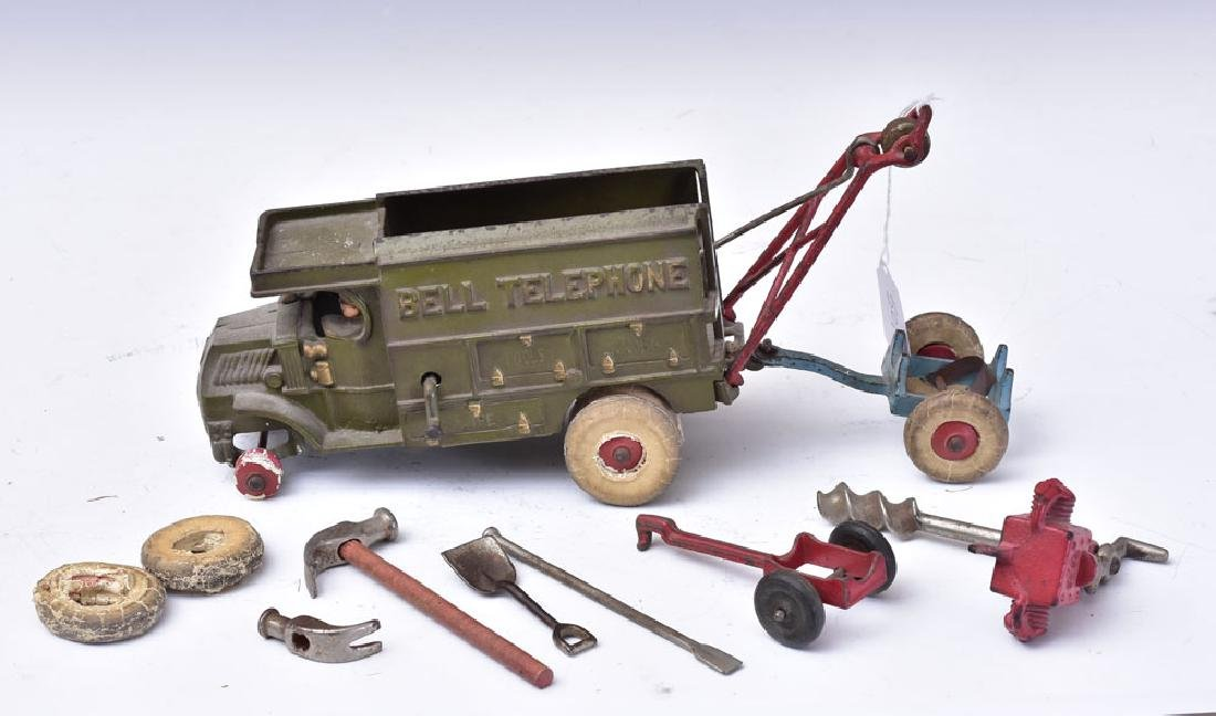 Hubley Bell Telephone Cast Iron Toy Truck