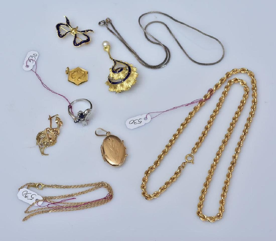 Group of 18k Gold Jewelry