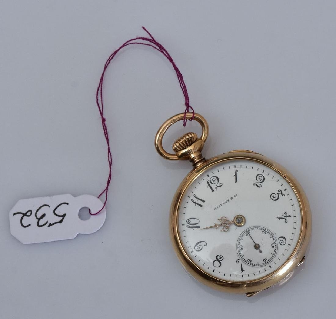 18k Gold Tiffany Ladies Pocket Watch