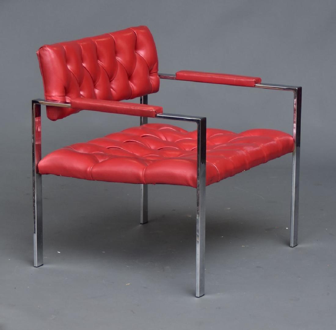 Modern Chrome Arm Chair