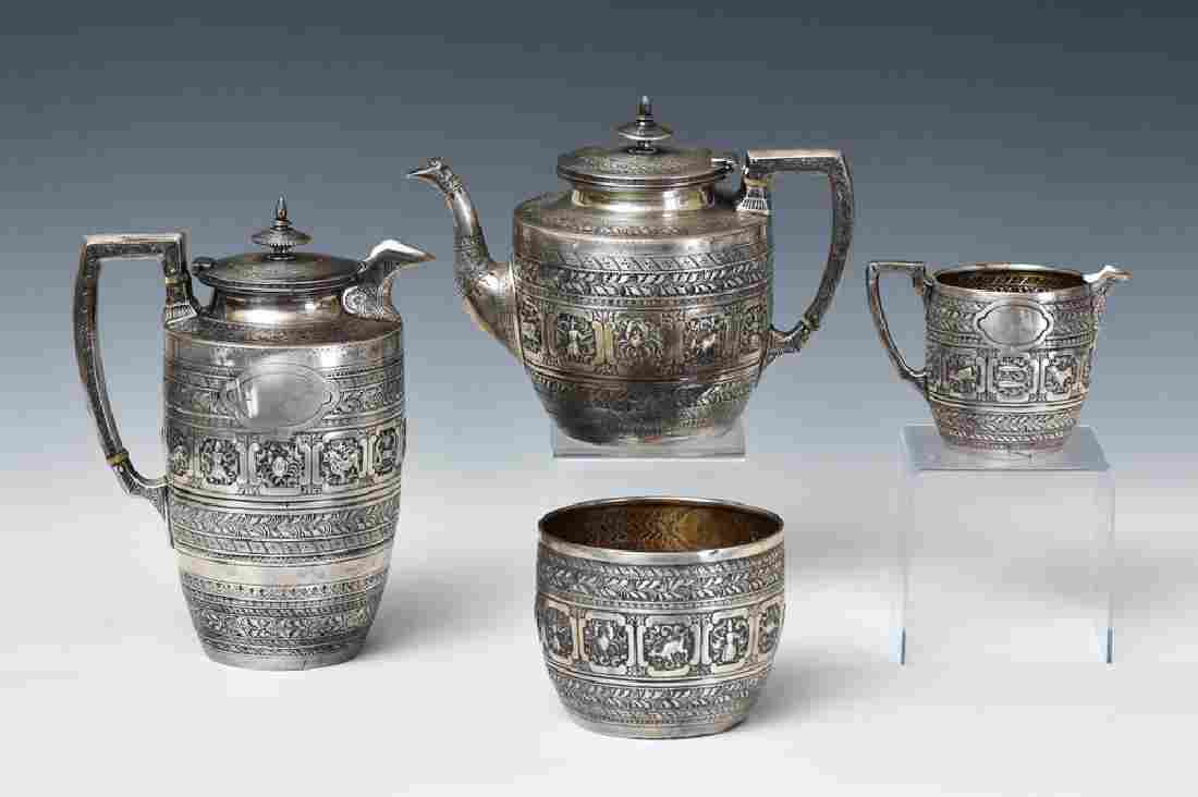 Continental Sterling Silver Tea Set