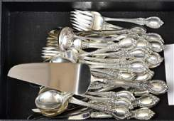 Partial Set of Towle Sterling Silver Flatware