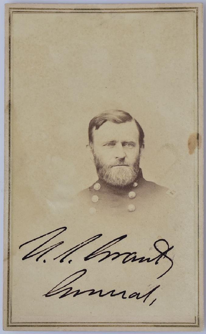 U.S. Grant Autographed CDV