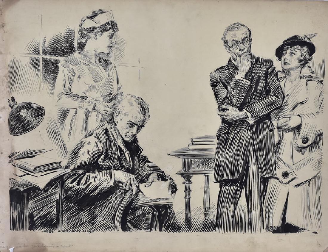 James Montgomery Flagg Original Illustration Art