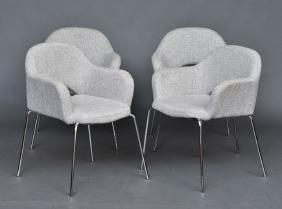 Eero Saarinen Set Of Four Armchairs
