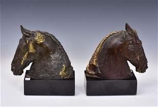 Bronze Horse Bookends