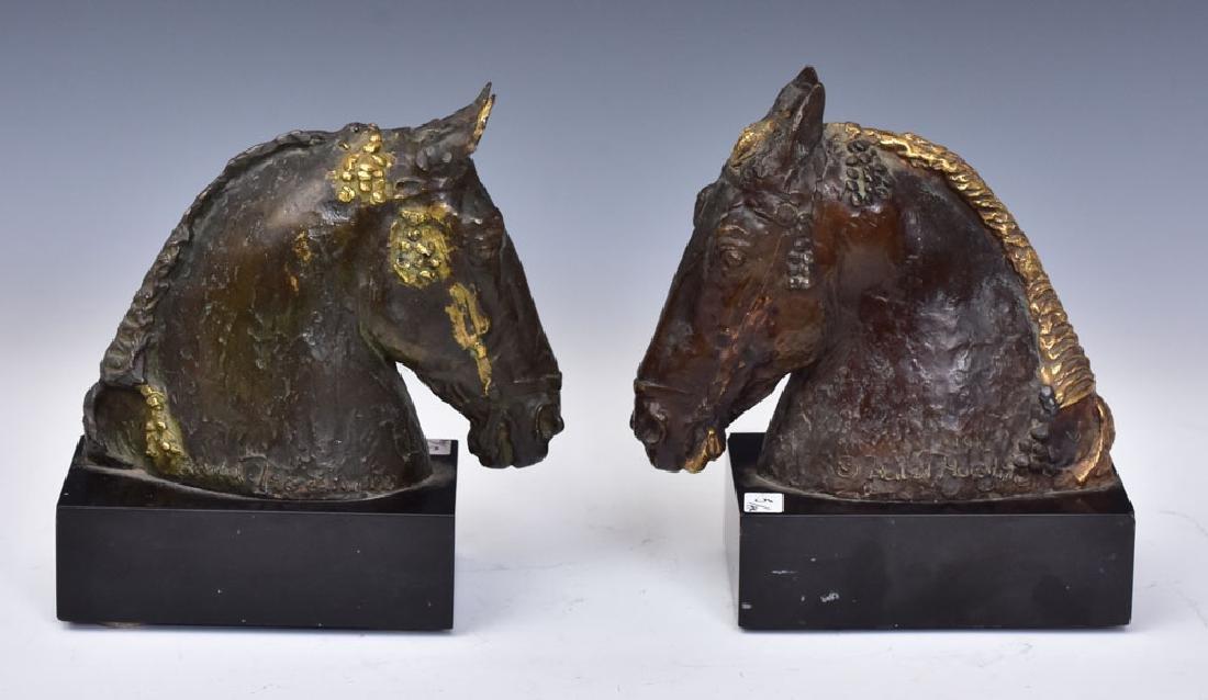 Bronze Horse Bookends - 2