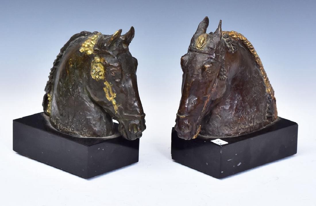 Bronze Horse Bookends - 4