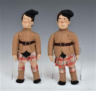 Laurel and Hardy Felt Dolls